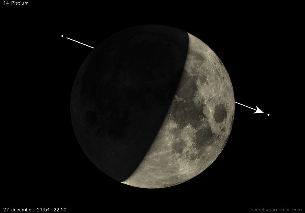 Occultation by the Moon, computed with libTheSky